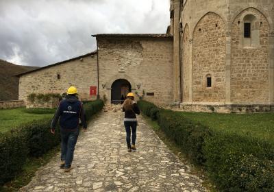 Abbazia S. Eutizio dopo il sisma del 30 ottobre 2016