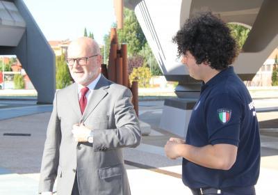 Alfiero Moretti (a sinistra) al CRPC di Foligno