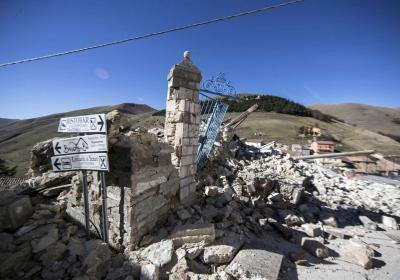 Castelluccio di Norcia dopo sisma 2016