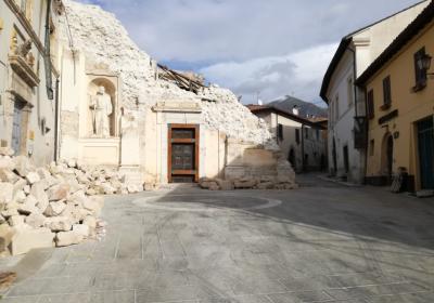 Chiesa dell'Addolorata (San Filippo) dopo sisma 2016