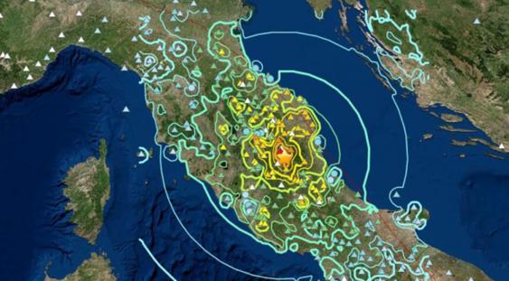 immagine Italia centrale epicentro sisma