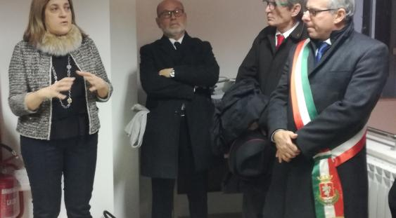 Norcia, sede USR-Umbria: presidente Marini, coordinatore Moretti, dirigente USR Umbria Battoni,  sindaco Alemanno