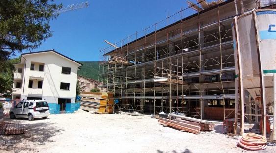 Cantiere ricostruzione post-sisma 2016