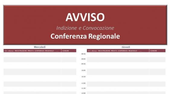 Avviso Conferenza Regionale - grafica